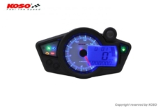 Marcador universal KOSO RX1N GP Style (blanco / azul) BA011220