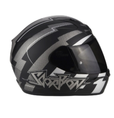 CASCO SCORPION EXO-390 PATRIOT MATT BLACK/SILVER