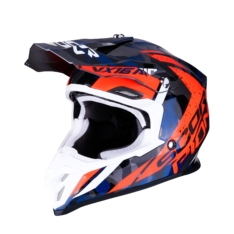 Casco Cross Scorpion VX-16 Air Waka Plata/Rojo/Az