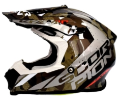 Casco Cross Scorpion VX-16 Air Waka Negro/Plata