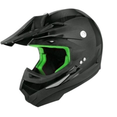 Casco Cross TNT Poli Negro Brillo