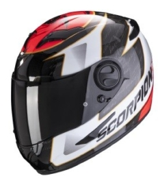 CASCO SCORPION EXO-490 TOUR Blanco/Rojo